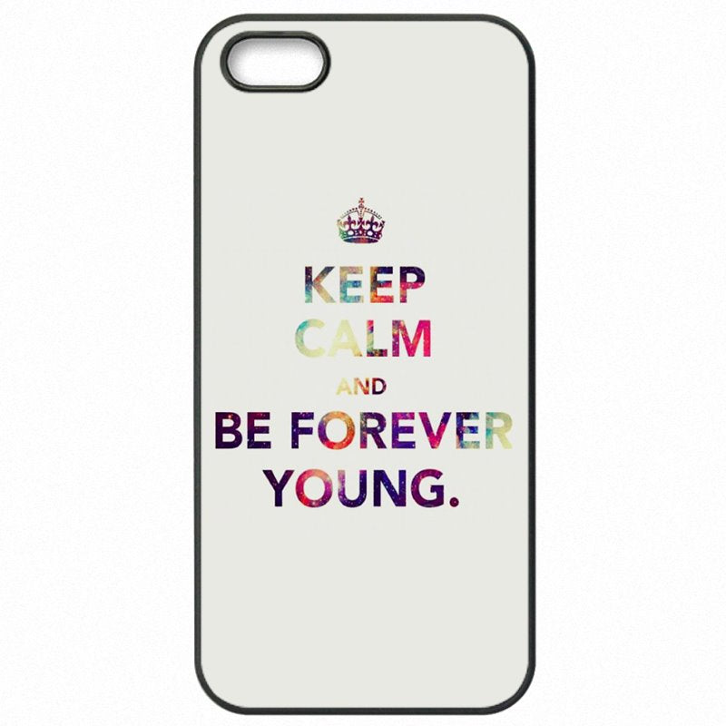 Womens Forever Young Famous Quote Poster For Sony Xperia C3 S55U Cell Phone Cover Shell