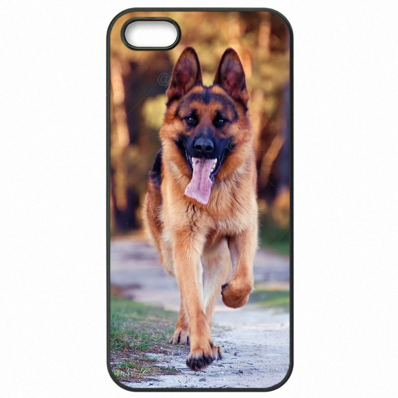 Plastic Phone Case Capa German Shepherds Dog Puppy Art For Galaxy S5 Active G870A Classic