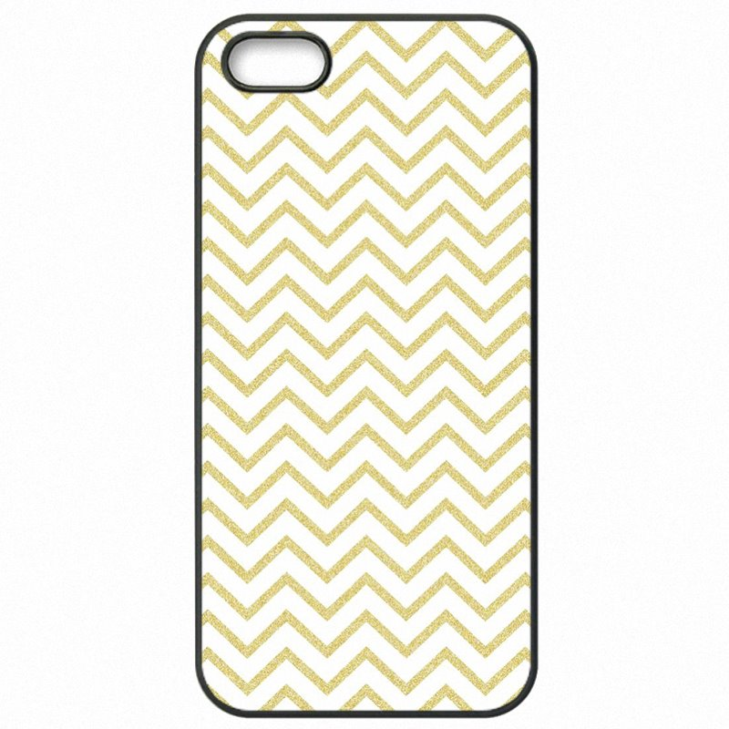 Fashionable Gold Pink Glitter chevron Colorful Print For Lenovo A6000+ Protective Phone Cover Case