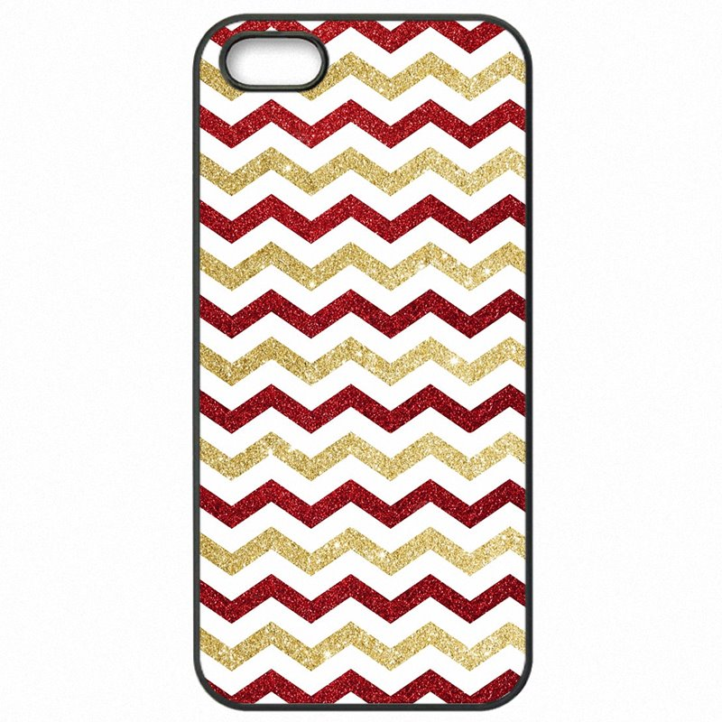 Protective Phone Case Capa Gold Pink Glitter chevron Colorful Print For LG L90 Online