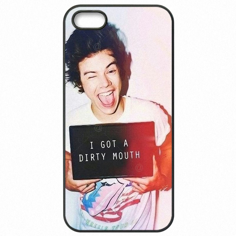 Protector Phone Accessories Harry Styles One Direction 1D Art Print For Galaxy Note Edge Lovely cute