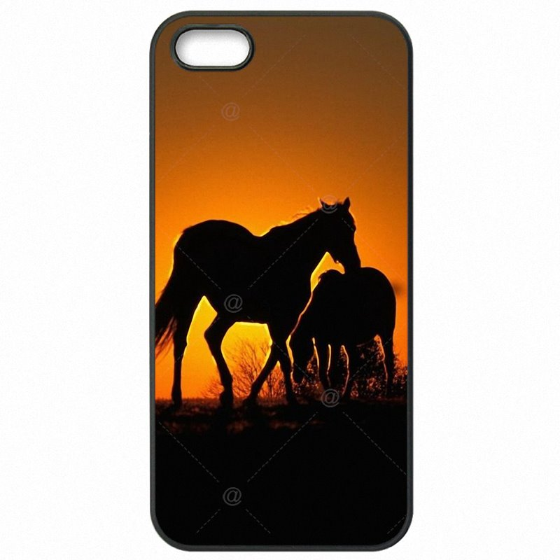 Protective Phone Cases For Galaxy J2 2016 J210F Horse Silhouette on Mountain Range Sunset Special