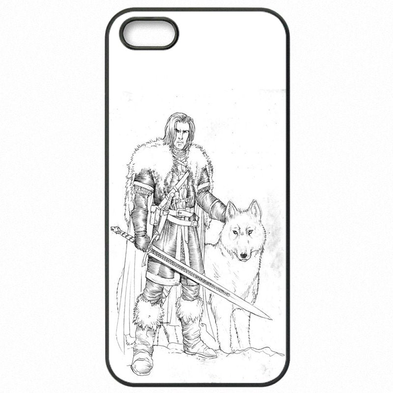 Hard Plastic Phone Skin Shell For HTC Case Jon Snow Game of Thrones GOT Art For HTC One M7 801E Luxury