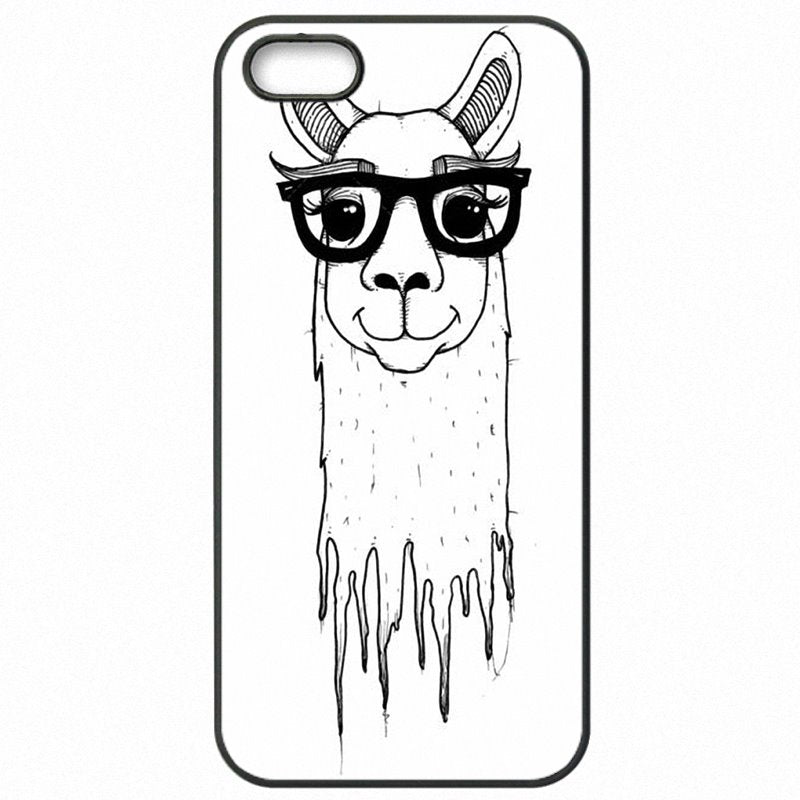 Youth Girls For Xiaomi Mi3 5 inch Kawaii Alpacas Collage Pattern Plastic Phone Cover Bags