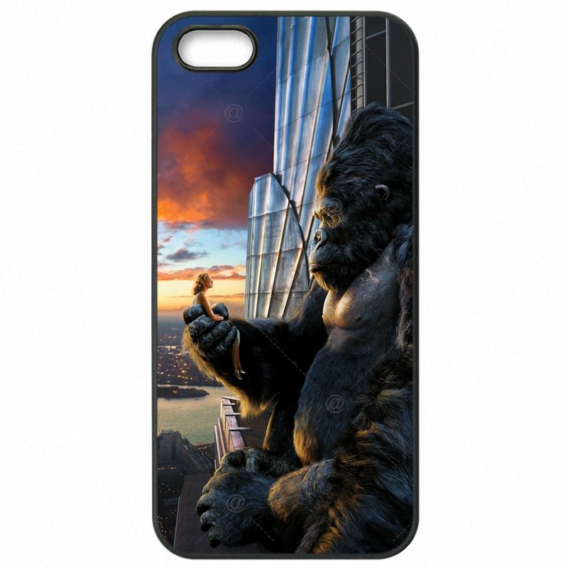 Nice King kong Chimpanzee Chimps Gorilla Movie Poster Art smoking For Moto X Play XT1561 Mobile Pouch Skin Shell
