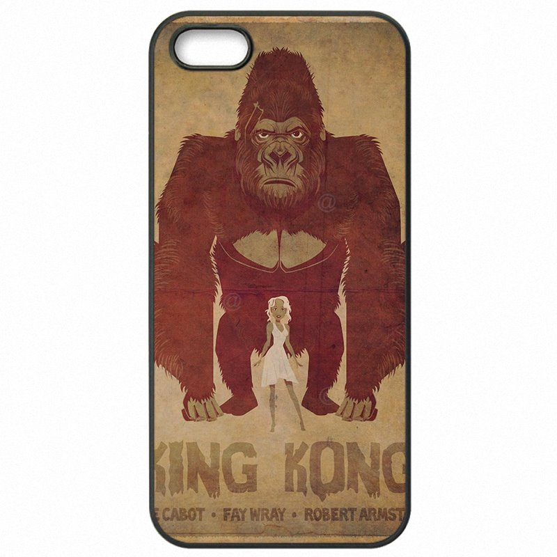 Hard Plastic Phone Skin For Huawei Honor 6 5 inch King kong Chimpanzee Chimps Gorilla Movie Poster Art smoking Authentic