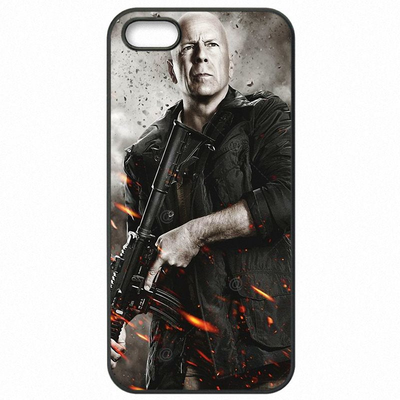 Mobile Pouch Skin For Galaxy Note Edge N915A Live Free or Die Bruce Willis sexy Man High Top