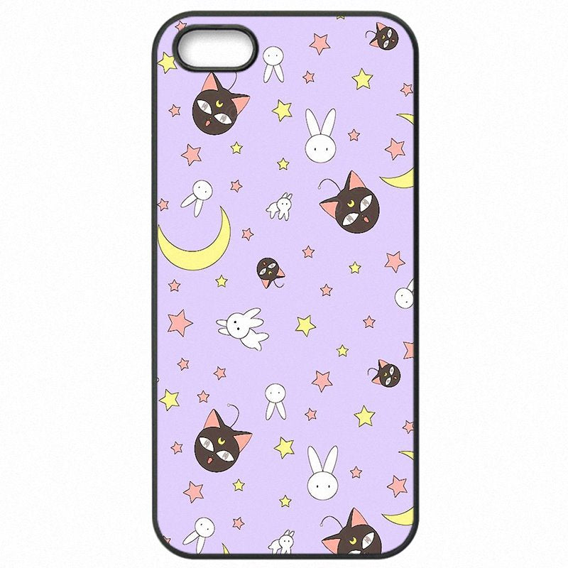Protector Phone Cover Skin Lovely Cartoon Sailor Moon Luna Cats Print For Sony Xperia A4 Men