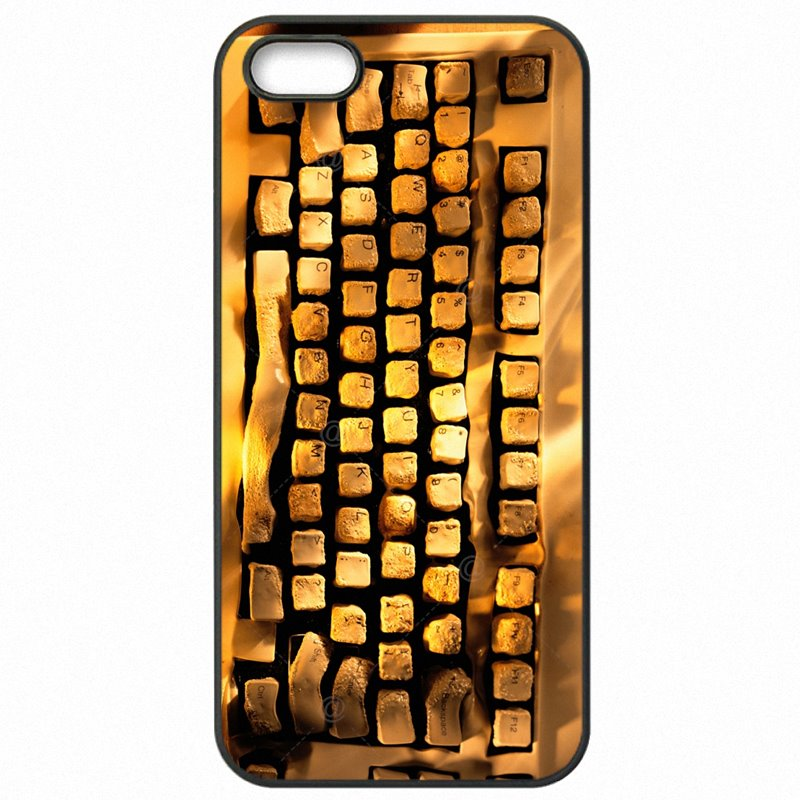 Expensive For iPod Touch 6 Luxury Computer Keyboar Art Poster For iPhone Case Hard Phone Capa