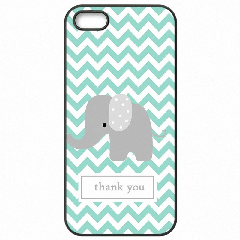 Protector Phone Covers Case For Galaxy J7 Prime G610DS Luxury Mint and Grey Elephants Art Personalised