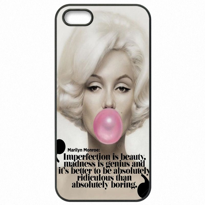 Amazing For Moto G4 Play XT1602 Marilyn Monroe Im Selfish quote Cell Phone Case Cover
