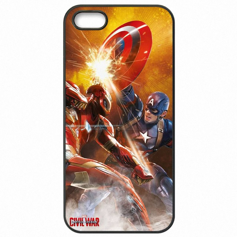 Plastic Phone Fundas Marvel's Captain America Civil War Movie Poster For Sony Xperia XA F3116 Type Of