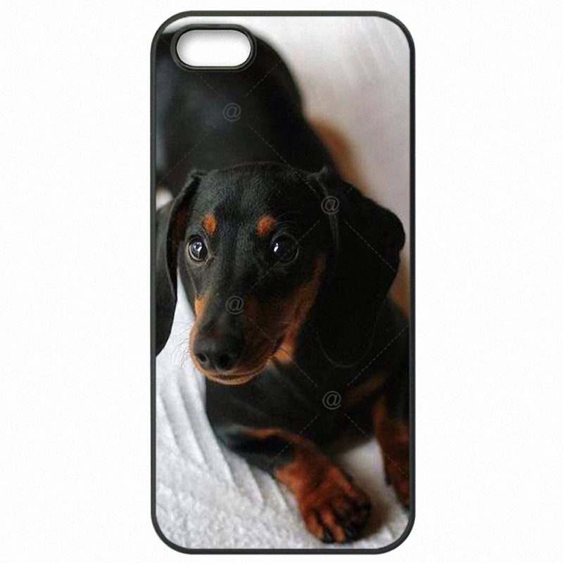 Accessories Phone Case Capa For Galaxy S IV Miniature Dachshund Silhouette Puppies Dog Art Pattern Good