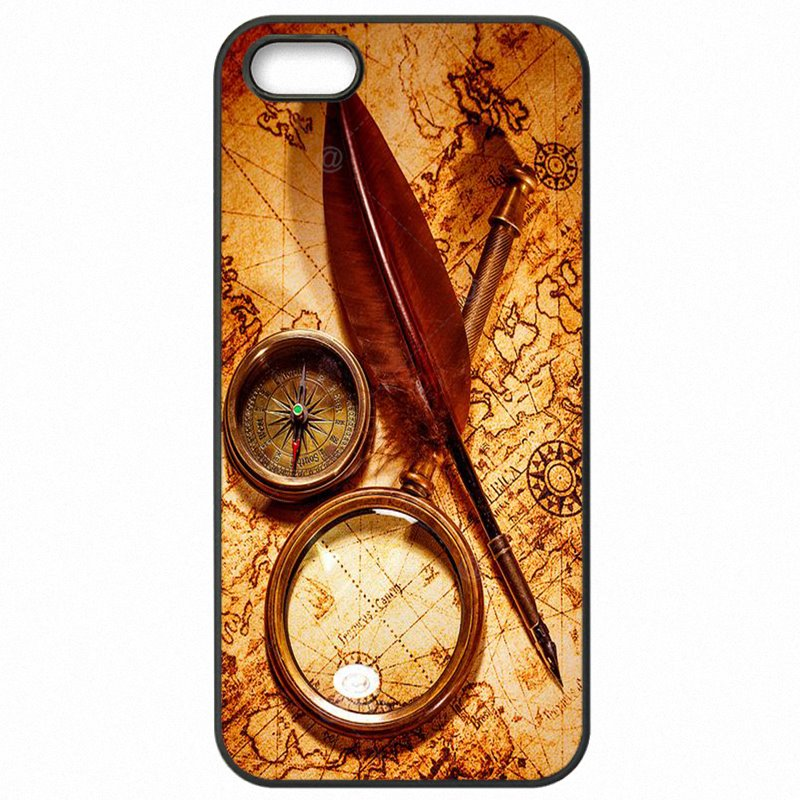 Durable Nautical Compass And Map Art Poster For Moto G4 Play XT1601 Accessories Pouches Capa