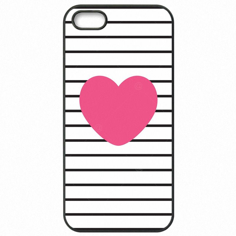 Protective Phone Cover Shell For iPhone 6S A1688 Pink Rose Heart With Stripes Poster Youth
