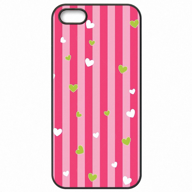 Select For iPhone 6S 4.7 inch Pink Rose Heart With Stripes Poster Cell Phone Covers