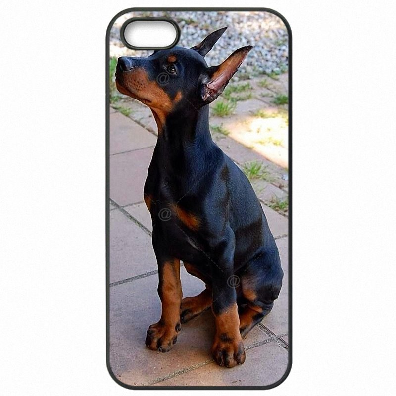 Protector Phone Cover Pinscher Doberman Dog Tongue Face Art For Galaxy Core Prime G361FZ For Children