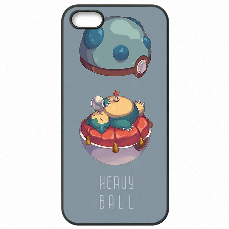 Hard Plastic Phone Shell Pokemons Go Bulbasaur Squirtle Jigglypuff snorlax Sleep On For iPod Touch 6 Large