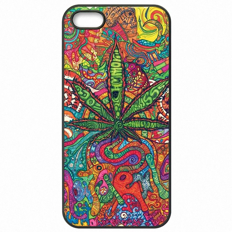 Ebay Psychedelic Ganja Pot Leaf Art Poster For Galaxy A5 2017 Mobile Phone Fundas For Samsung Case