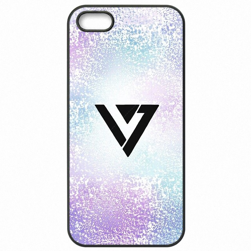 Come Low Rainbow KPop Seventeen Logo Poster For Huawei P10 Lite Accessories Pouches Cover Skin