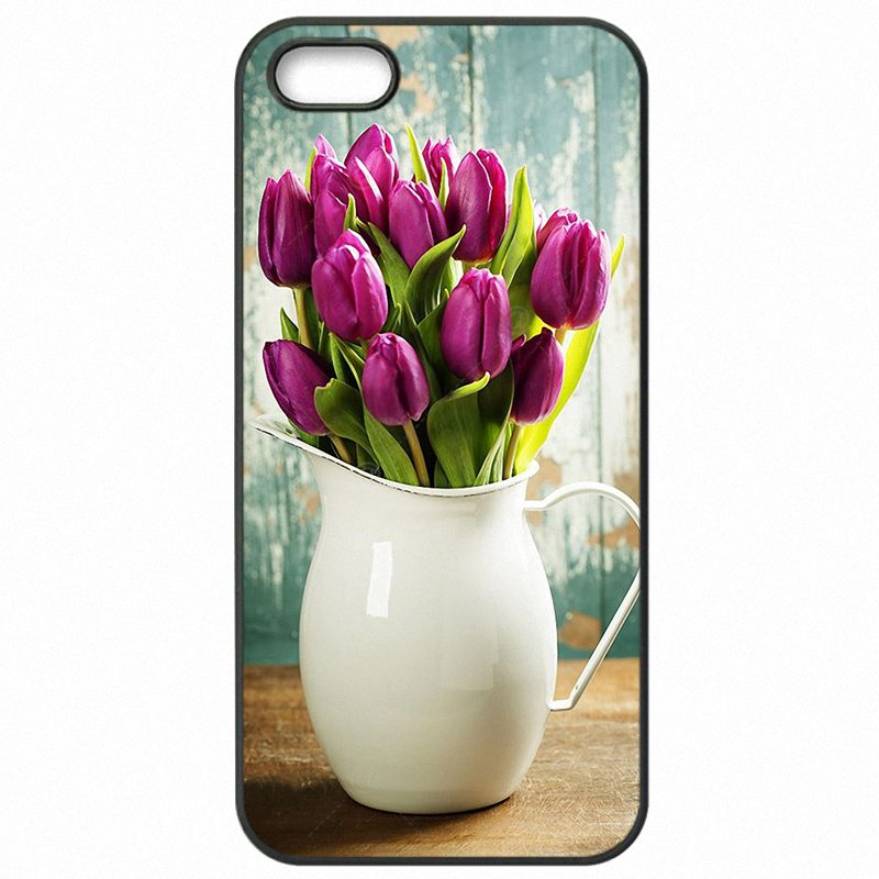 Colored Red Blue Spring Colorful Tulips flower field Art For Moto Nexus 6 Hard Phone Covers