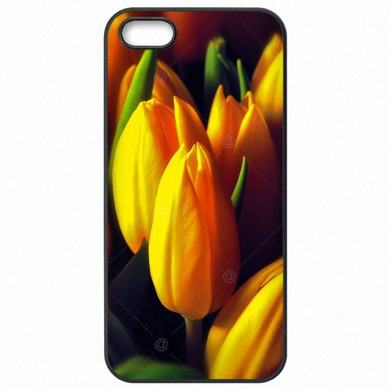 Protective Phone Coque Red Blue Spring Colorful Tulips flower field Art For iPhone 6S 4.7 inch Cheapest