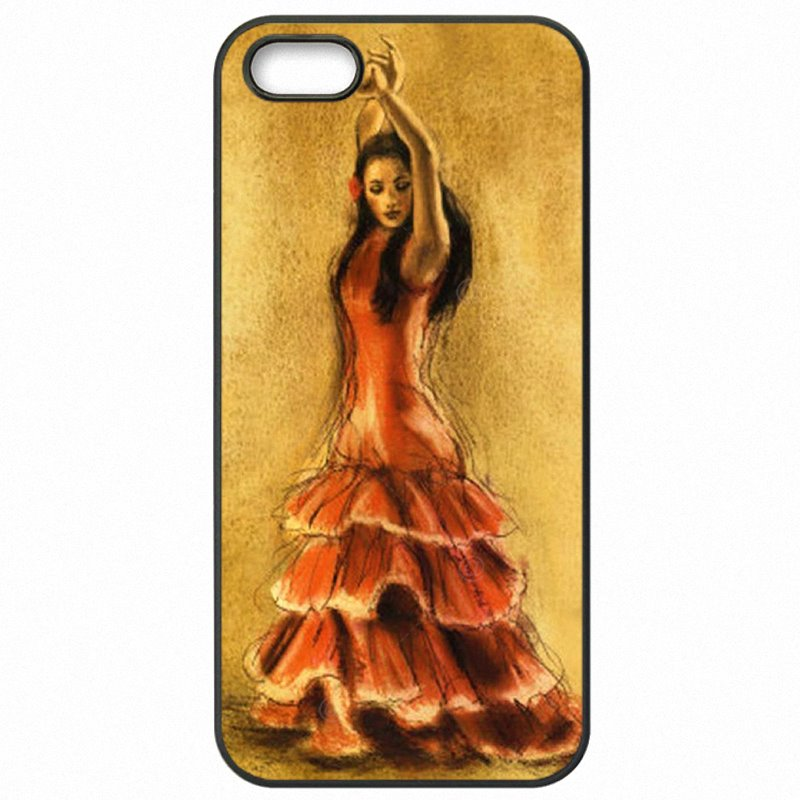 Nice Red The Spanish Dancer Flamenco Art For Huawei Ascend Mate 7 Hard Mobile Phone Covers