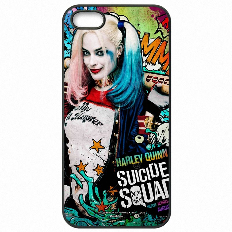 Hot Sale Suicide Squad Harley Quinn Joker Movie Poster For Xiaomi Redmi 3 5 inch Protective Phone Cover