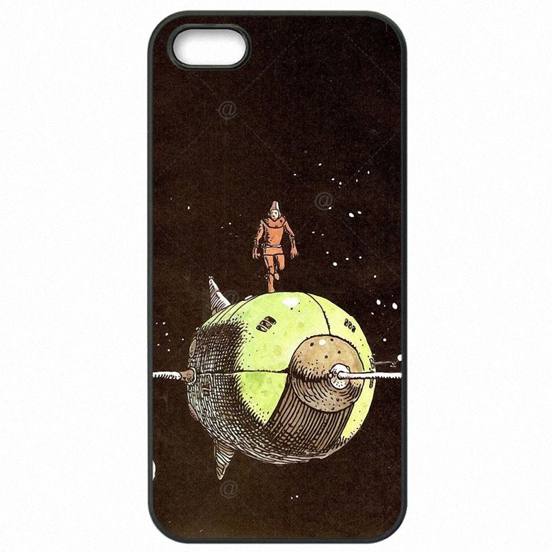 Enfant The spaceman's trip astronaut Design Pastel Art For iPhone 6S Plus A1633 Hard Phone Skin