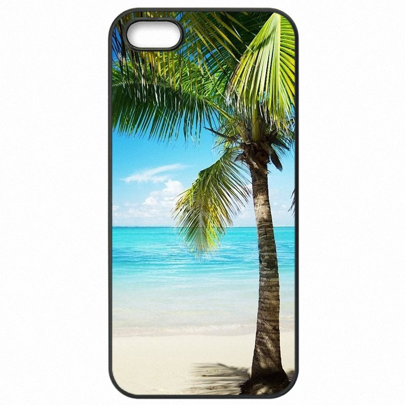 Deals For Huawei P8 Lite 2015 Tropical Beach Palm leaves Trees Stand Art Hard Plastic Phone Bags Case