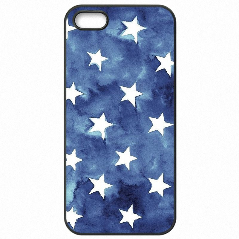 Nice White Stars On Navy Blue Pattern Collage For LG G3 D851 Hard Phone Skin Shell