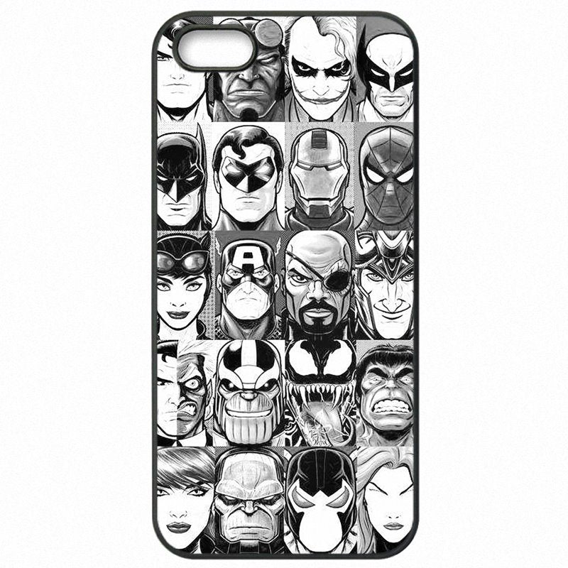 Mobile Phone Fundas all Super Heroes puzzle Collage dc comics For Sony Xperia XA F3116 Moins Cher