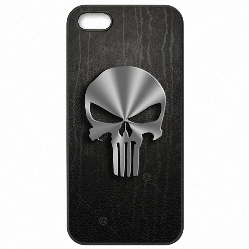 World For HTC One M9W comic The Punisher Skull Metal Logo Poster Cell Phone Shell Case