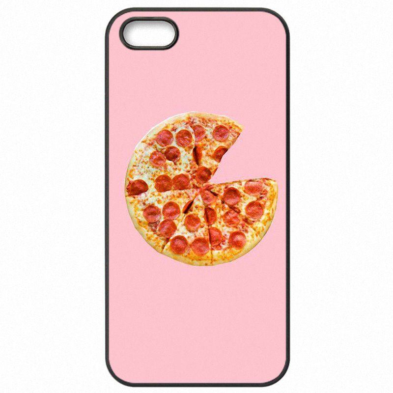 Coloured pink pizza Pattern Collage For Galaxy S4 Mini Hard Mobile Phone Bags Shell