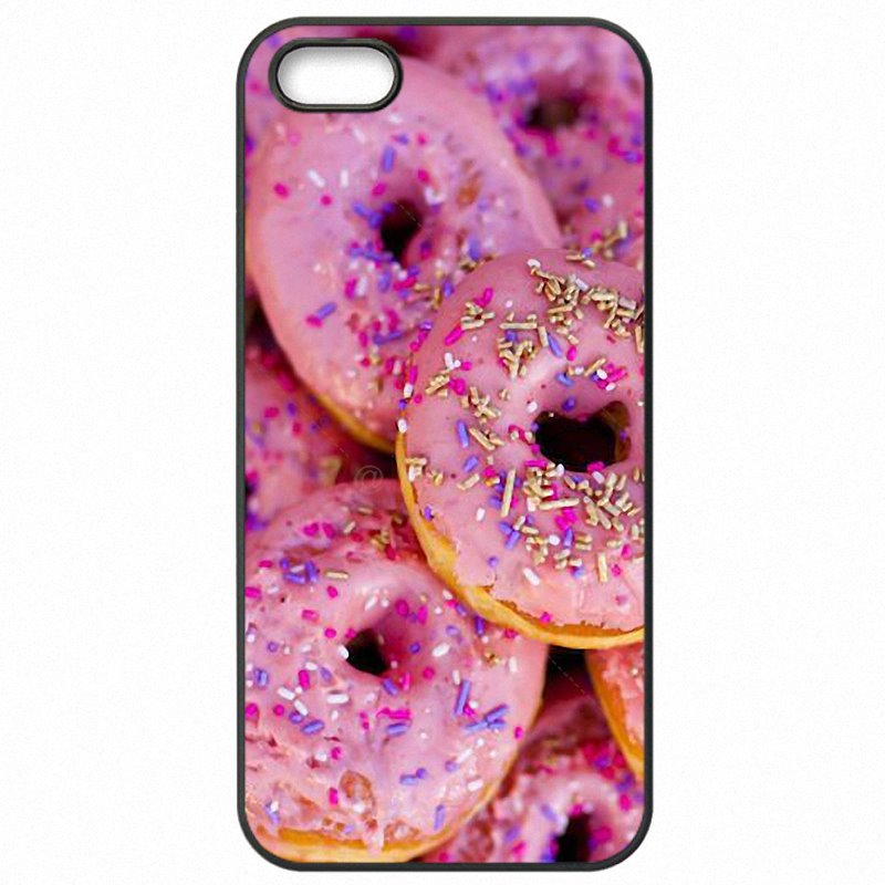 Hard Phone Coque sugar Creamy Pink Donut Sprinkles Art Collage For Galaxy Core Prime G361F  Personalised