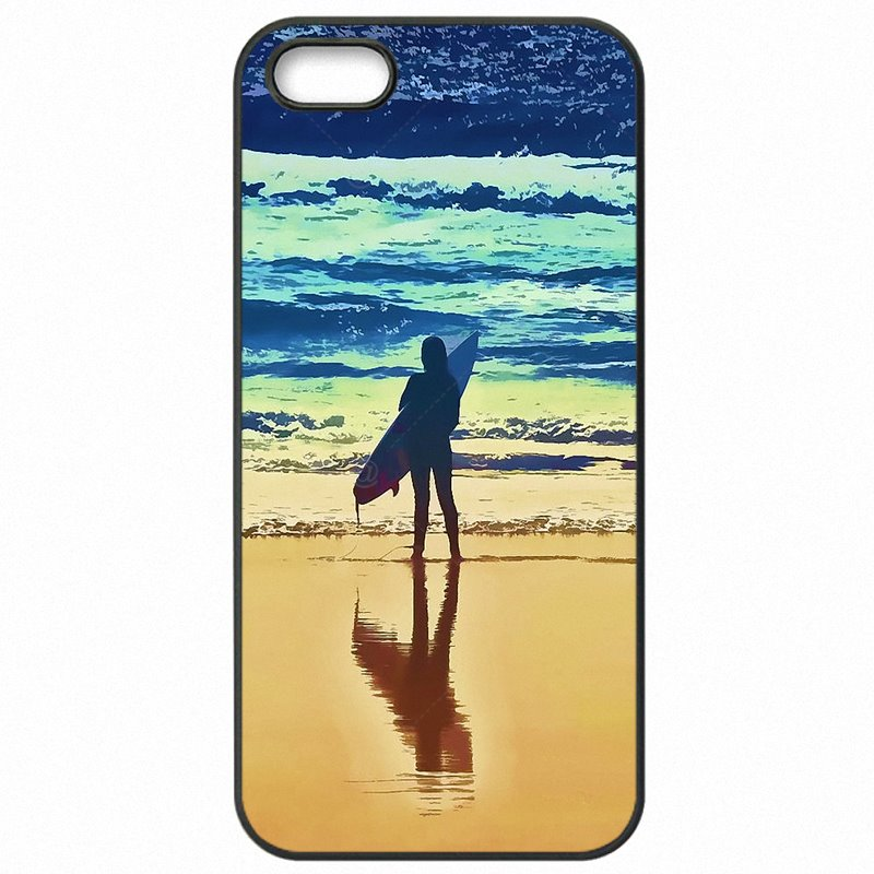 Baby surfing art surf Girl Art Poster For Huawei Honor 5C Hard Mobile Phone Capa