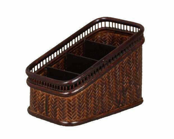Bamboo Organizer Holder Handwoven Table Desk Organizer Kitchen Storage Choice