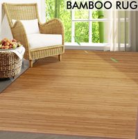 1.52m x 2.29m Large Bamboo Carpet Rug Floor Mat Home Office Indoor Outdoor 竹地毯