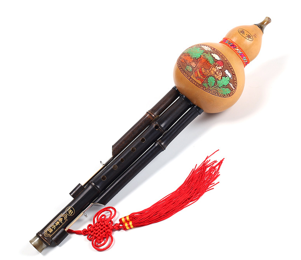Natural Bamboo Chinese Hulusi Gourd Cucurbit Flute Learning Instrument Flute 葫芦丝