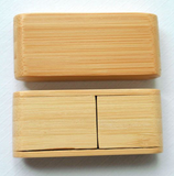 Bamboo USB 2.0 creative design rotation click natutal sizes 4GB - 32GB