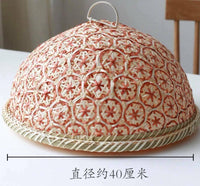 Food Cover Bamboo Handwoven Bread Food Fruit Cover Prevent Insect Multi Use Cute
