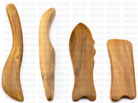 2 x Sandal wood Gua Sha board hard scraping board for massage healthy  檀香木刮痧板 排毒