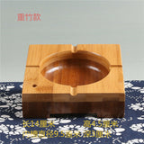 Bamboo Ashtray Cigarette Tobacco Ashtray Holder Container Artwork