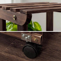 Plant Stand Wooden Indoor Outdoor Garden Planter With or Without Wheels 多款实木多层花架
