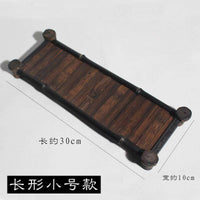 Serving Tray Natural Bamboo Handcrafted Handmade Coffee Tea Food Drinks Plate