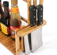 Bamboo Kitchen Storage Shelf Rack Holder Organizer Bathroom Multi-Function多功能置物架