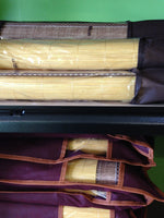Bamboo bed mat plus 2 pillow covers-3 pieces all together  三件套-原色竹席加两个竹枕套
