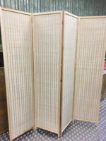 4-leaf Folding screen both sizes bamboo panels Privacy Screen Room Divider竹屏风