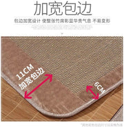 Best 5A Bamboo bed Mat +2 Pillow Case both size sheet rug floor cool 双面折叠竹凉席加两枕套