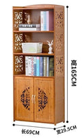 Bamboo wooden bookcase bookshelf storage shelf carving furniture natural 竹书柜书架